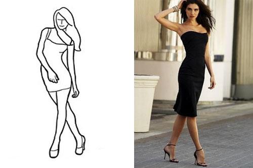 Позы для для девушек в платье